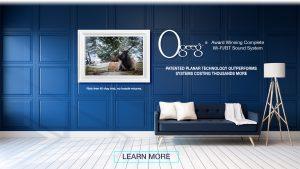 White frame in blue room